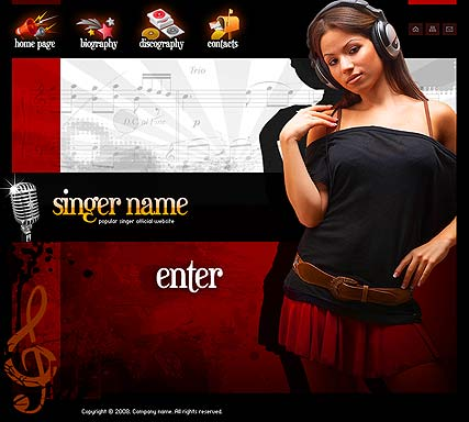 Name: Singer - Type: Flash template - Item number:300110073