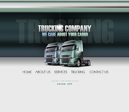 Trucking co., Flash template