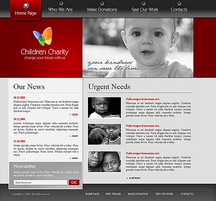 Charity - Website template ID:300110085