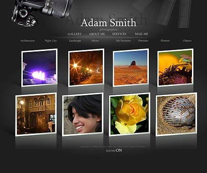 Photographer, Dynamic Photo Gallery Admin flash template
