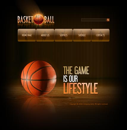 Name: Basketball - Type: Flash template - Item number:300110089