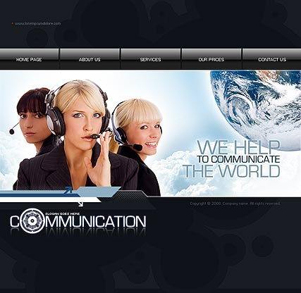 Communication, Flash template