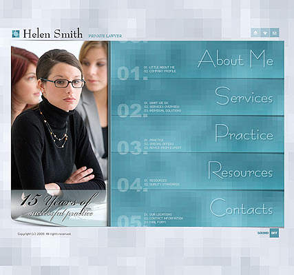 Privat lawyer, Flash template