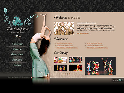 Dancing school, Flash template