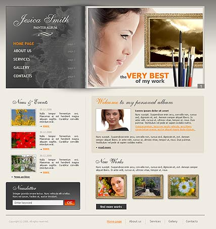 Painter album, HTML template