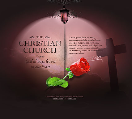 Name: Church - Type: Flash template - Item number:300110103