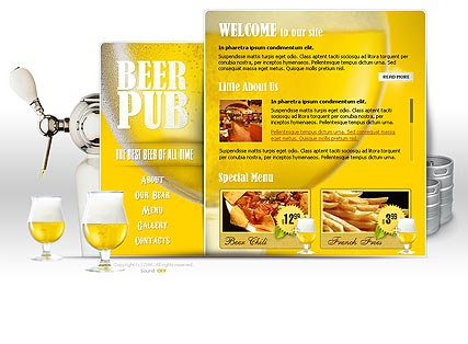 Name: Beer Pub - Type: Flash template - Item number:300110105