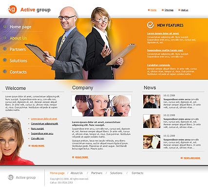 Name: Active Group - Type: HTML template - Item number:300110110