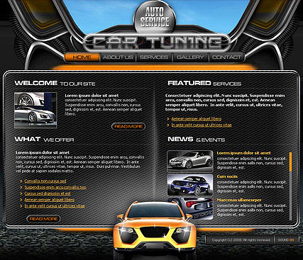 Car service, Flash template