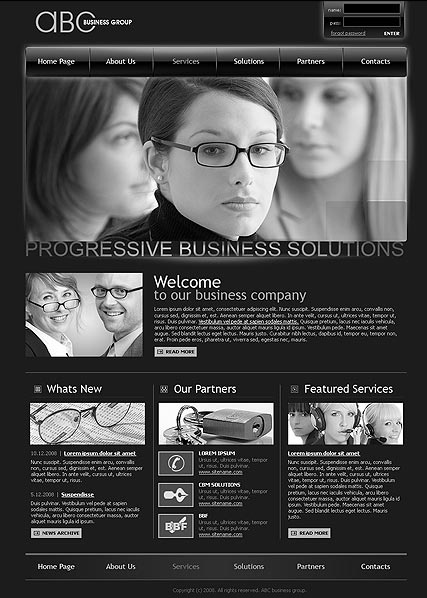 ABC business, HTML template