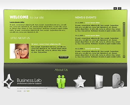 Business, Easy flash template