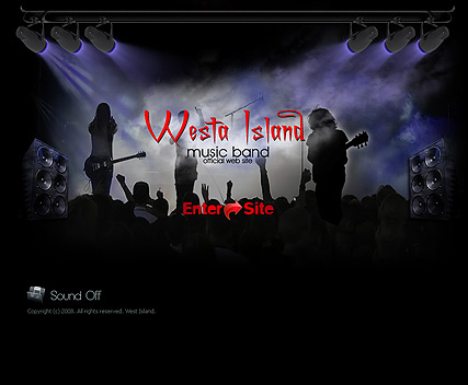 Music band, Easy flash template