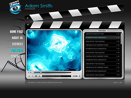 movie producereasy flash templates at www