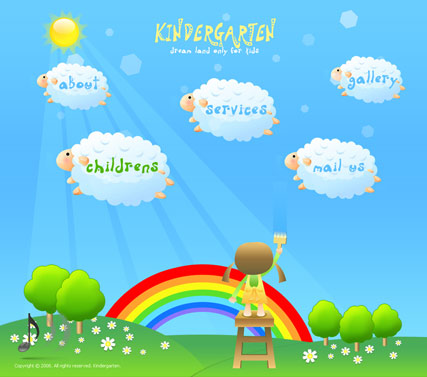 Kindergarten Easy Flash Template Id 300110127