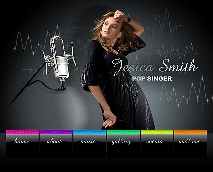 Pop Singer, Easy flash template