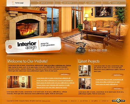 Interior design, Flash template