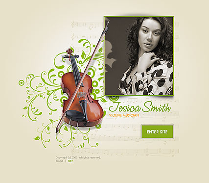 Name: The violinist - Type: Easy flash templates - Item number:300110142