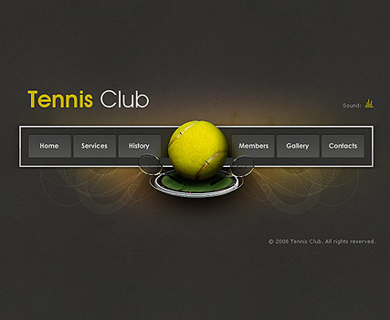 Tennis Club, Easy flash template
