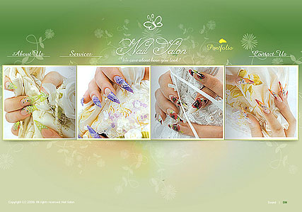 Nail Saloon, Easy flash template