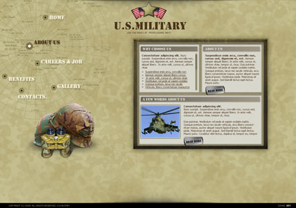 Millitary, Easy flash template