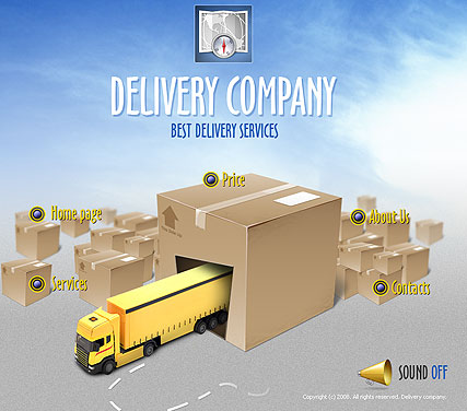 Delivery co., Easy flash template