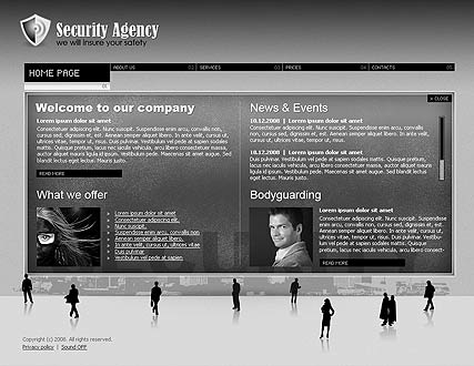 Security agency, Easy flash template