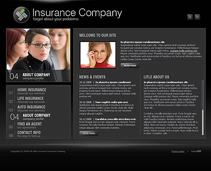 Insurance co., Easy flash template