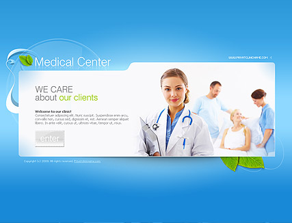 Medical center, Easy flash template