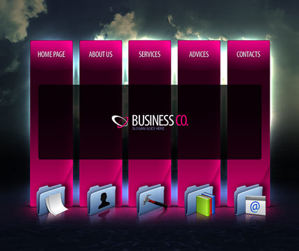 Business company, Easy flash template