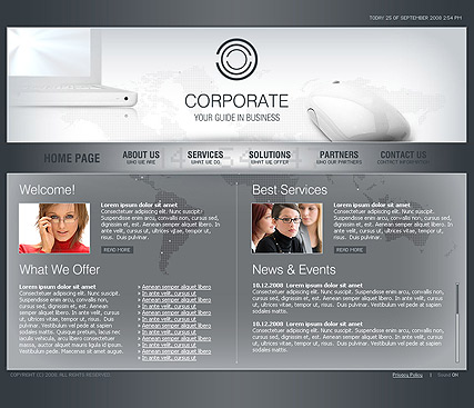 Corporate, Easy flash template
