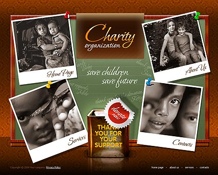 Charity, Easy flash template