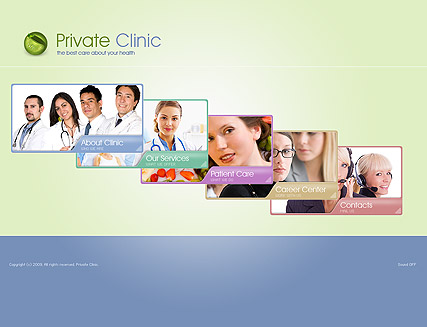 Private Clinic, Easy flash template