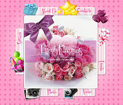 Event Planner, Easy flash template
