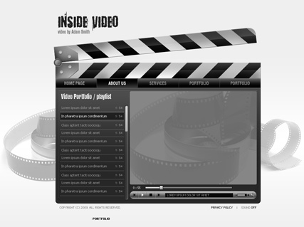 Inside Video, Easy flash template