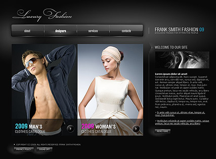 Luxury Fashion, Easy flash template
