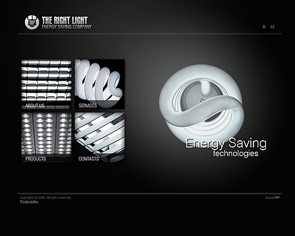 Energy co., Easy flash template