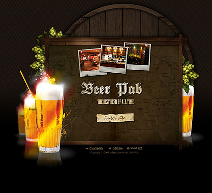 Beer Pub, Easy flash template