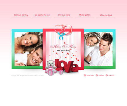 Love story, Easy flash template