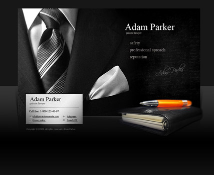 Private Lawyer, Easy flash template