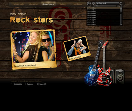 Rock Band, Easy flash template