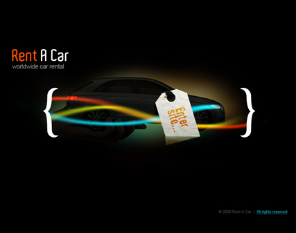 Rent a car, Easy flash template