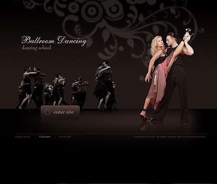 Dancing school, Easy flash template