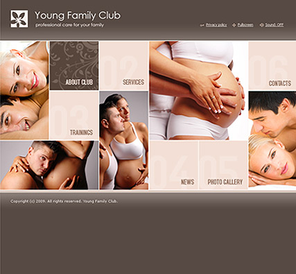 Family Club, Easy flash template