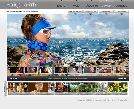 My Photos, Dynamic Photo and Video Gallery Admin flash template