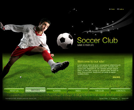 Name: Soccer club - Type: VideoAdmin flash templates - Item number:300110367