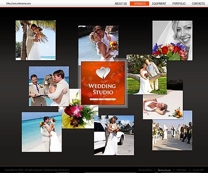 Wedding, Dynamic Video Gallery Admin flash template