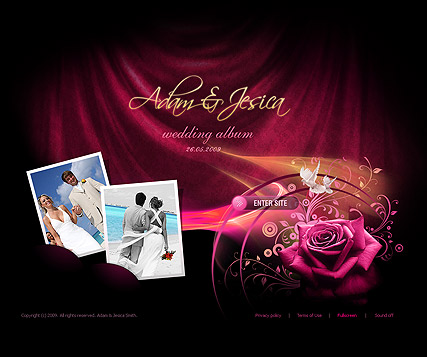 Wedding album, Dynamic Photo and Video Gallery Admin flash template