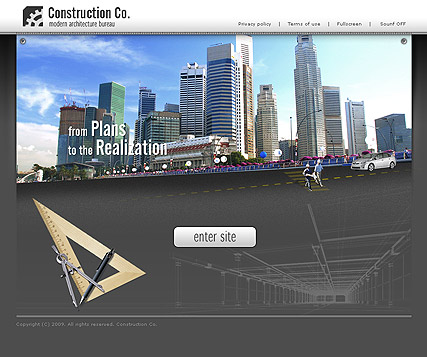 Construcion CO., Dynamic Video Gallery Admin flash template