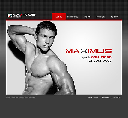 Name: Fitness Center - Type: VideoAdmin flash templates - Item number:300110383