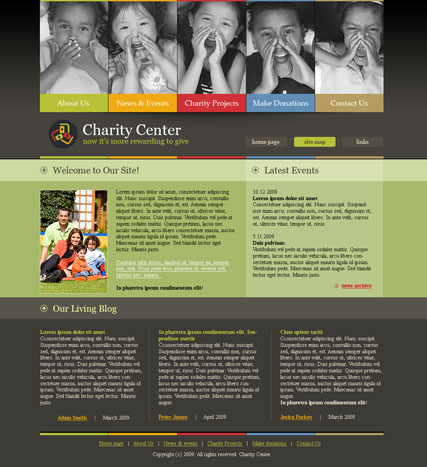 Charity - Website template ID:300110384